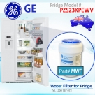 REPLACEMENT FILTER FOR PZS23KPEBV GE SmartWater MWF Refrigerator Water Filter