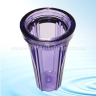 """CLEAR Water Filter Housing 10"""" x 2.5"""" with 1/2"""" NPT Ports   Suit Brewing"""