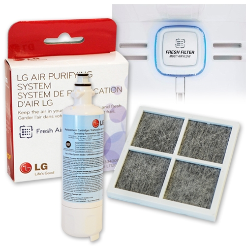 how to change lg water filter