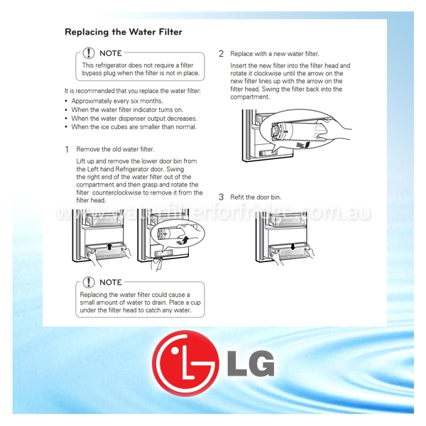 GF-5D712SL LG FRIDGE FILTER ALSO KNOWN AS ADQ73613401, LT800P