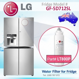 LG Genuine Fridge filter ADQ73613401 / LT800P for GF-5D906SL
