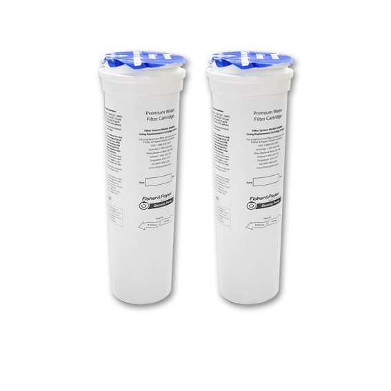 2x Fisher & Paykel 836848 Genuine Fridge Water Filter