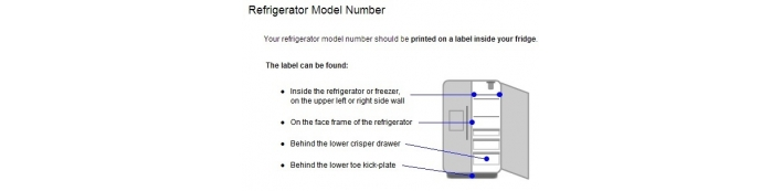 How To Find Model Number Of Your Fridge